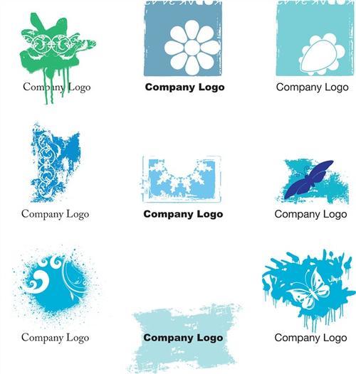 蓝色logo