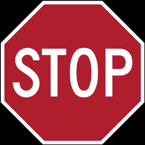 多边形停车标志