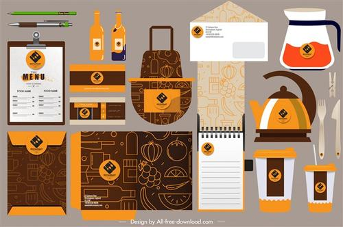 橙色vi设计模板全套