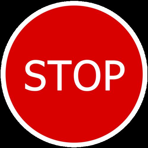 经典停车标志图片