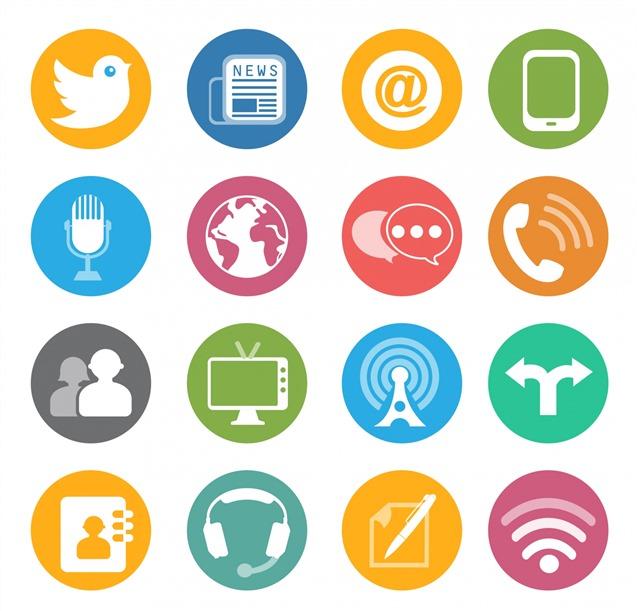 互联网通讯媒体图标
