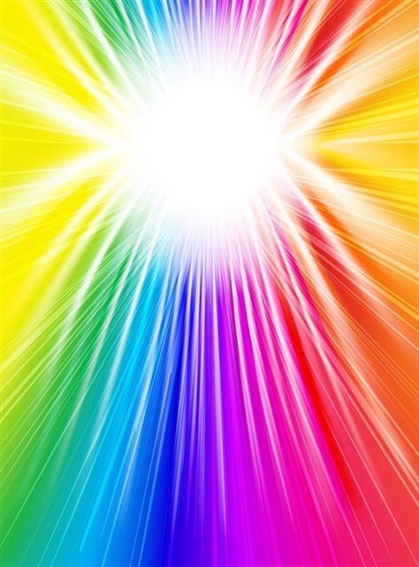 彩色动感放射线条背景图