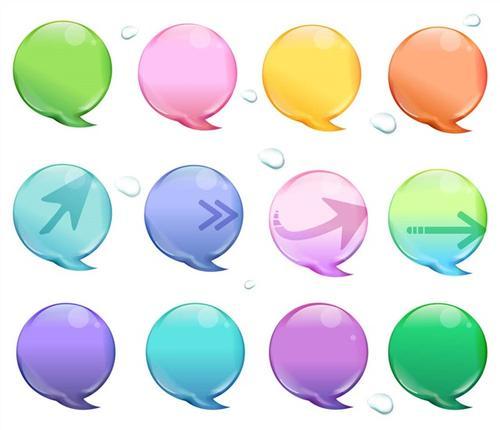 聊天气泡形状对话框装饰