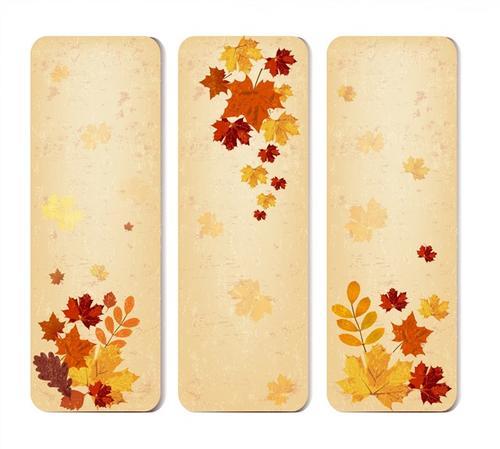 秋季枫叶竖版背景图
