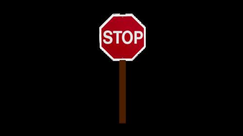 停车警示牌全图