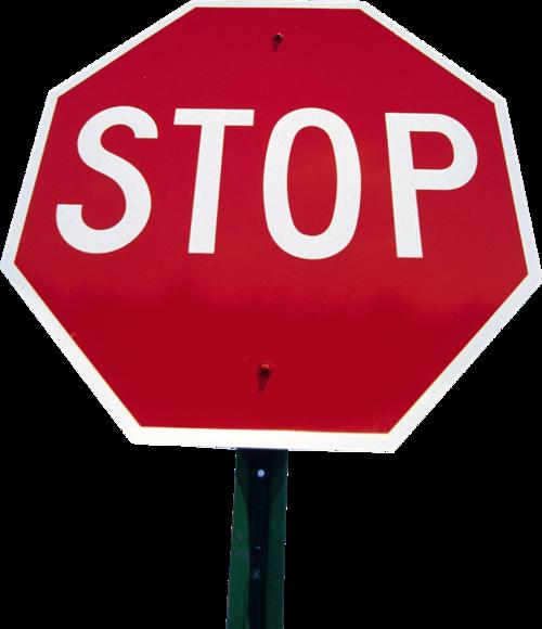 停车警示牌摄影