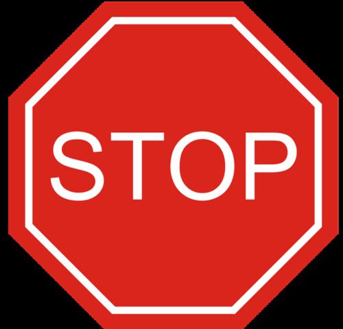 多边形停车警示牌
