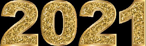 2021烫金艺术字