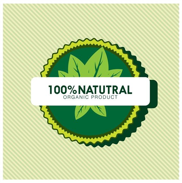 天然绿色标志
