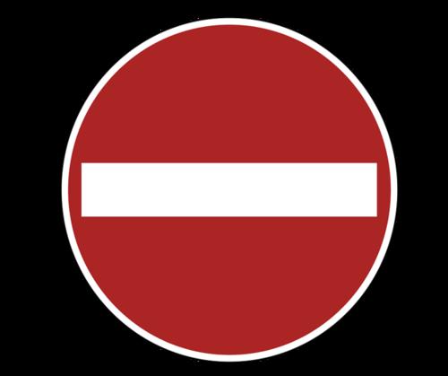 禁止停车简约标志