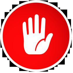 停车卡通手势标志