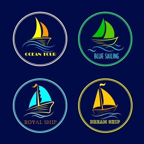 帆船标志logo