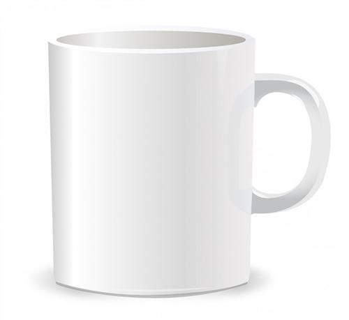 白色马克杯图片