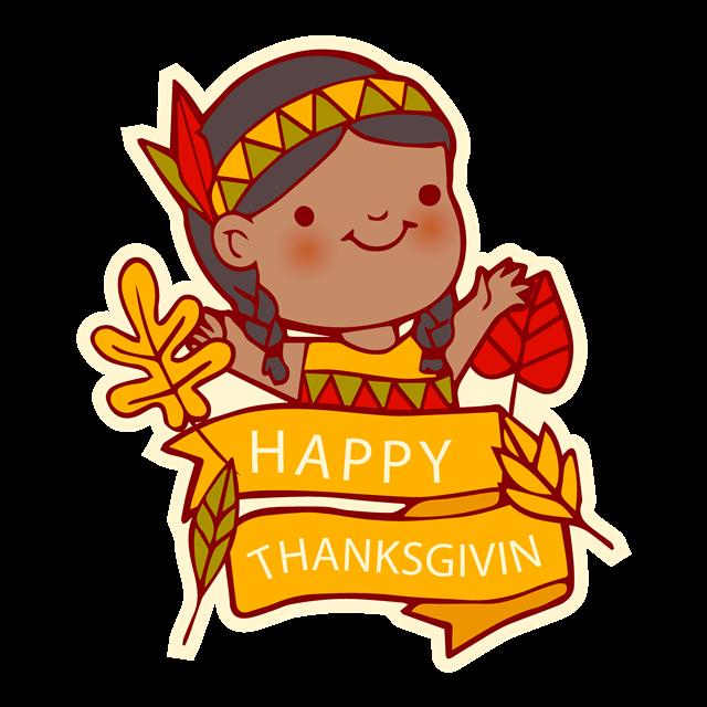 感恩节可爱卡通图片