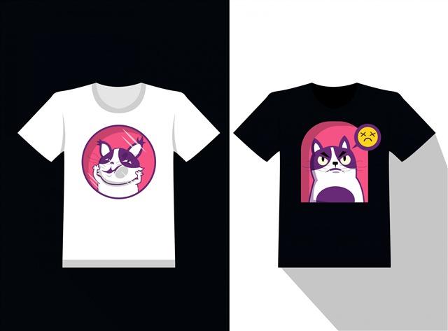 卡通动画T恤衫图片