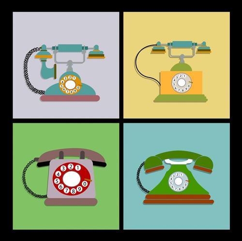 复古电话机模型
