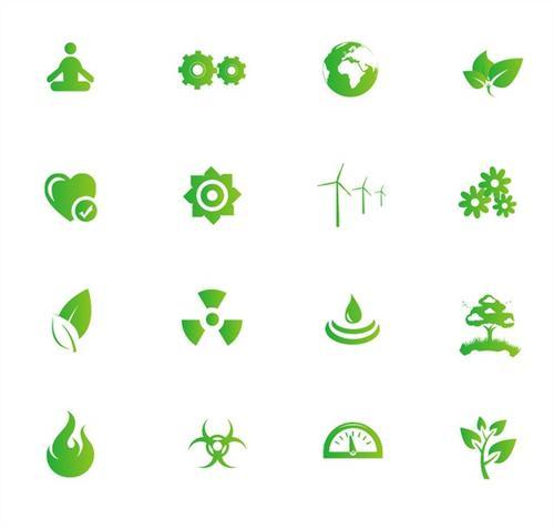 各种绿色环保小图标