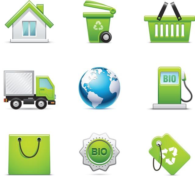 绿色环保图标合集
