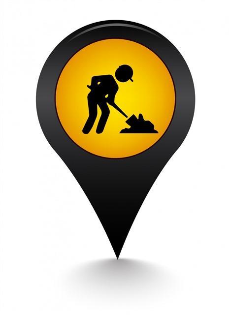 施工地图定位标志