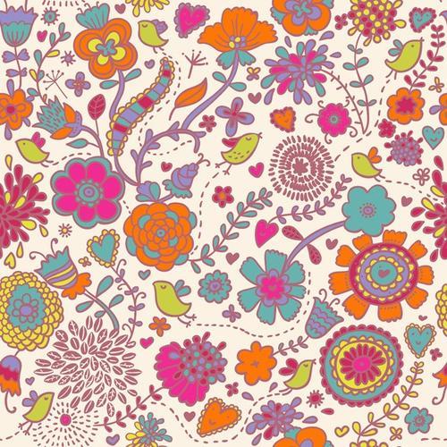 清新手绘花卉背景板