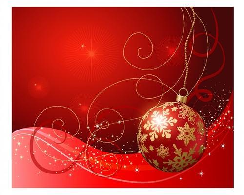 圣诞红色喜庆背景图