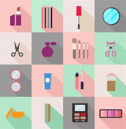 彩妆化妆品手绘图标