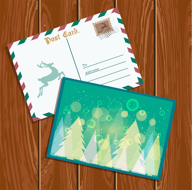 圣诞节明信片图片