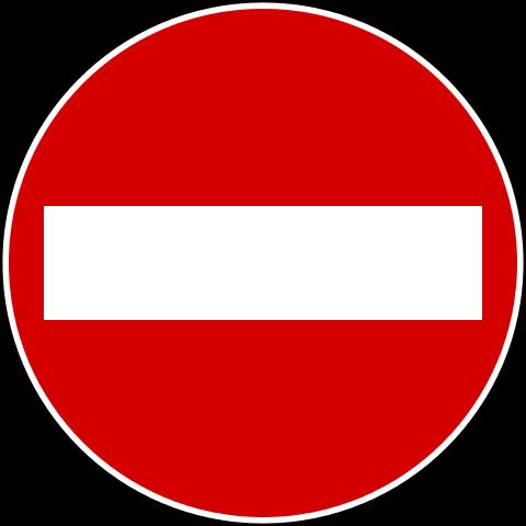 停车告示牌