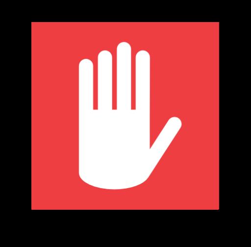 禁止停车手势标志