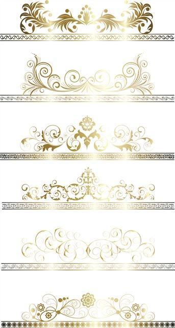 欧式金色花纹边框