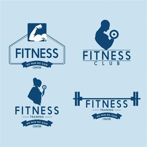 健身房标志图片