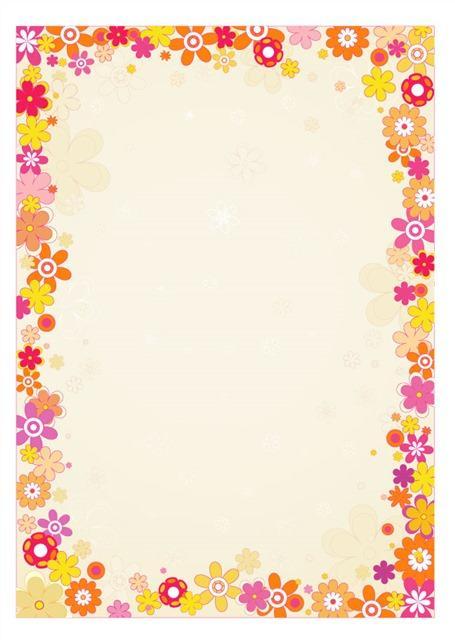 卡通小花朵边框素材