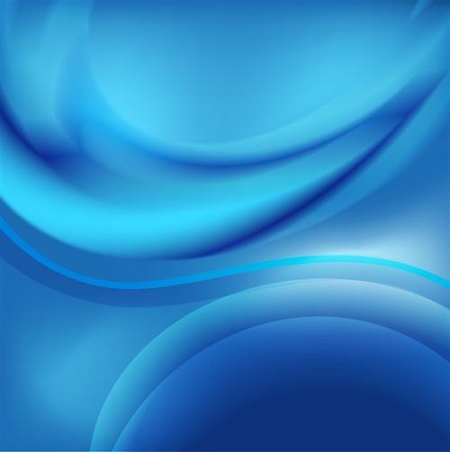 蓝色动感曲线商务背景