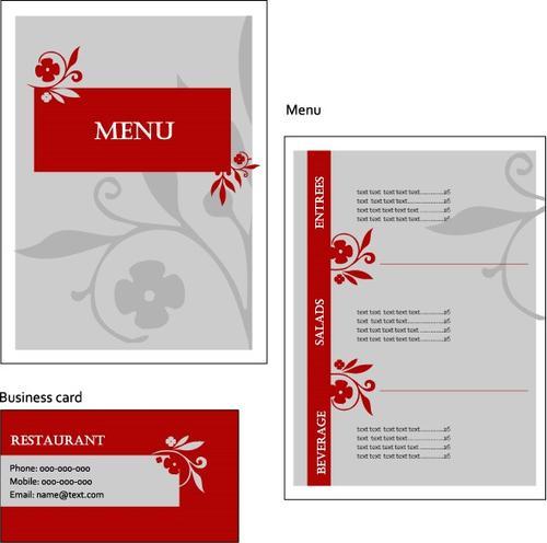 菜单排版设计图片