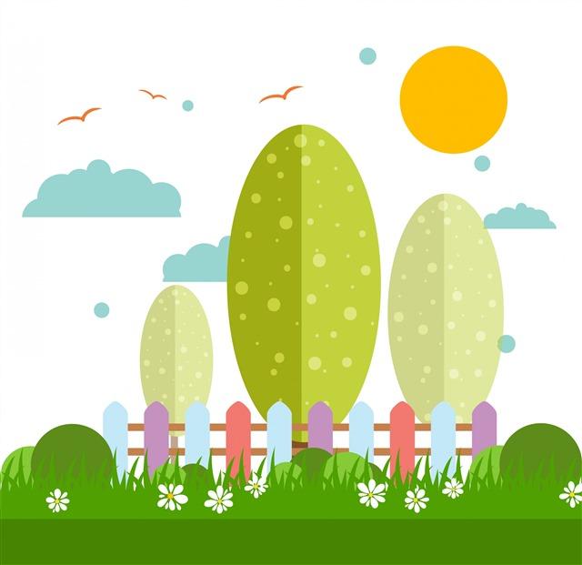 自然风景插画背景图片