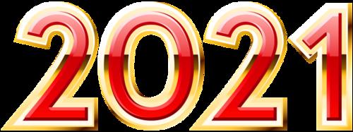 2021艺术字红金立体设计