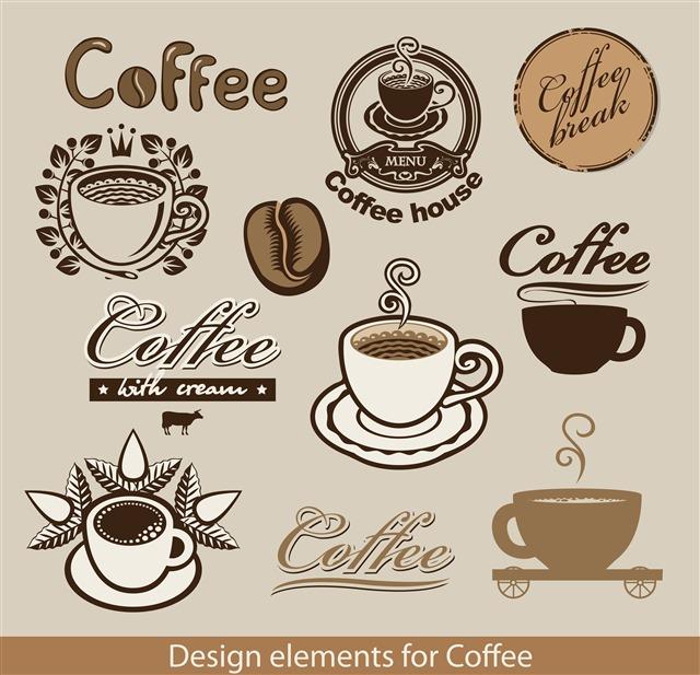 vector咖啡标志LOGO图片