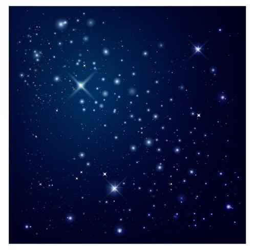 蓝色星光星空背景