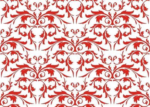 红色花纹底纹背景图片