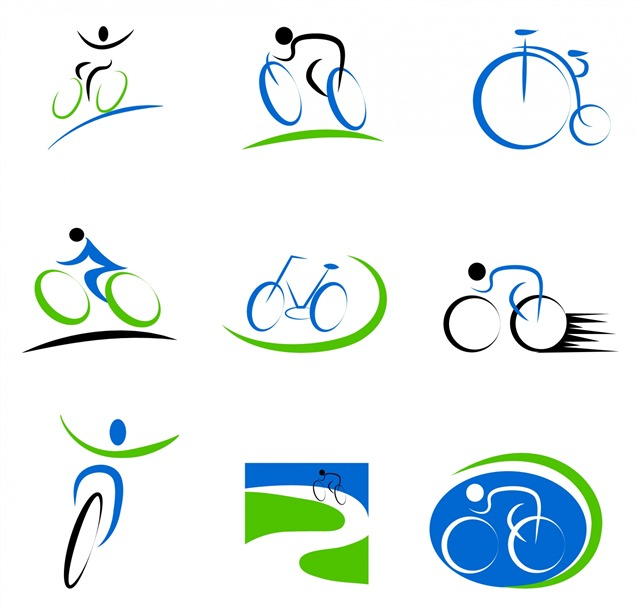骑自行车标志