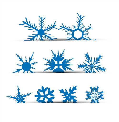 圣诞节雪花图案图片
