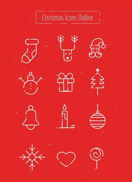 圣诞节符号图标