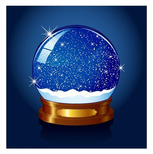 圣诞节水晶球背景