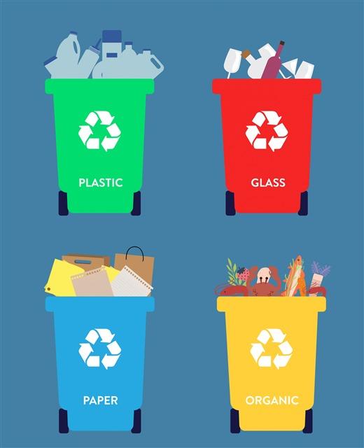 垃圾桶垃圾分类图标