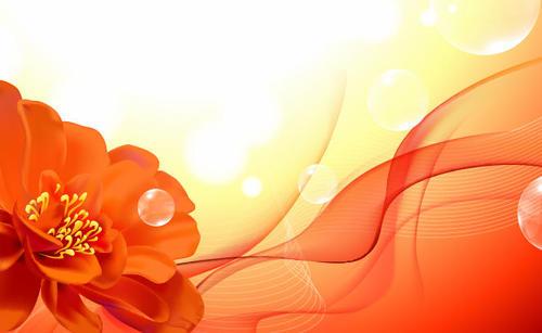花卉艺术背景图