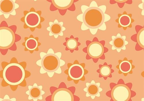 可爱太阳花无缝背景图