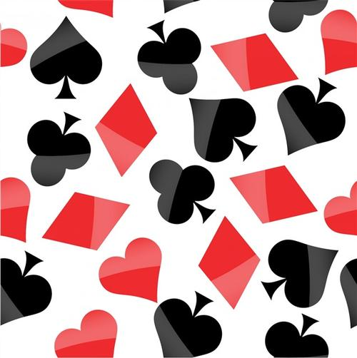 扑克牌花纹背景