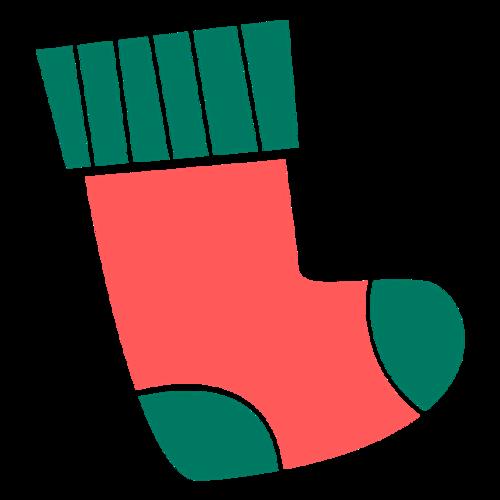 创意彩色圣诞袜图片