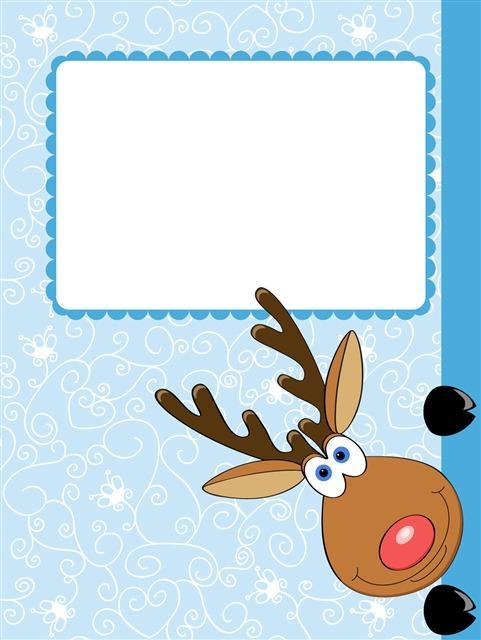 圣诞节可爱麋鹿卡通