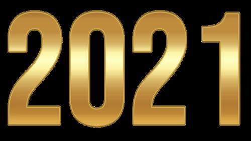 金色大气2021艺术字设计
